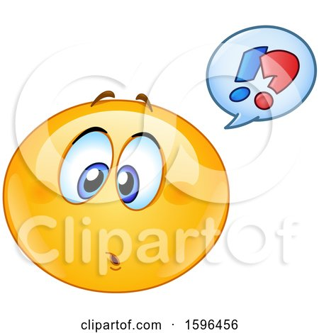 Clipart of a Confused Yellow Emoji Emoticon - Royalty Free Vector Illustration by yayayoyo