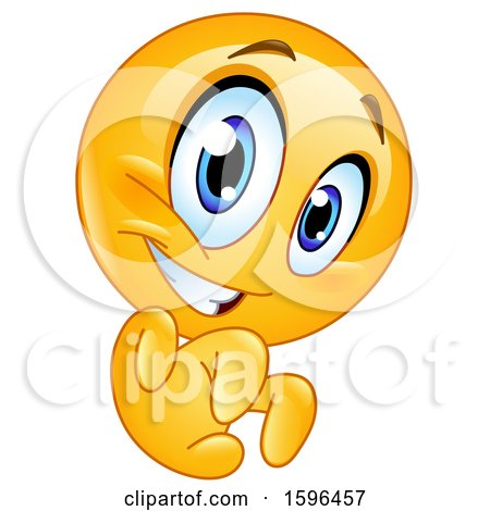 Clipart of a Yellow Emoji Emoticon Being Scary - Royalty Free Vector Illustration by yayayoyo