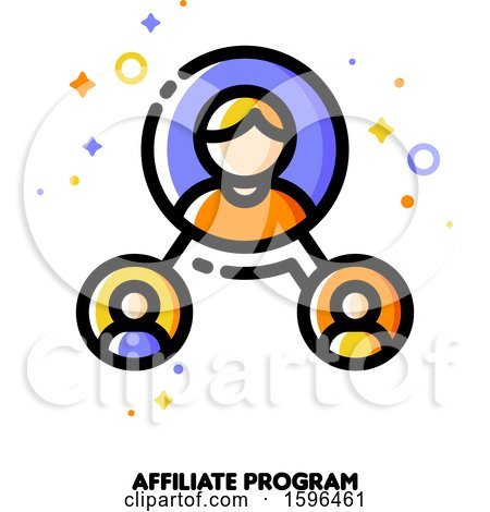Clipart of a Affiliate Marketing Program Icon - Royalty Free Vector Illustration by elena