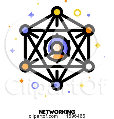 Clipart of a Networking Icon - Royalty Free Vector Illustration by elena
