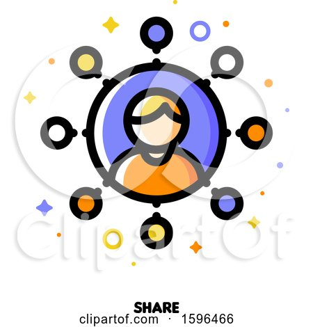 Clipart of a Share Icon - Royalty Free Vector Illustration by elena