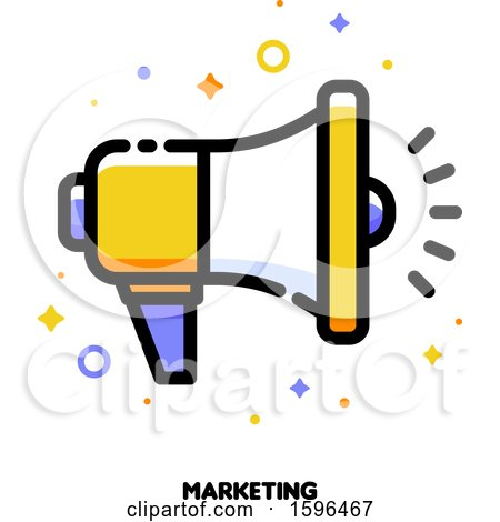 Clipart of a Marketing Megaphone Icon - Royalty Free Vector Illustration by elena
