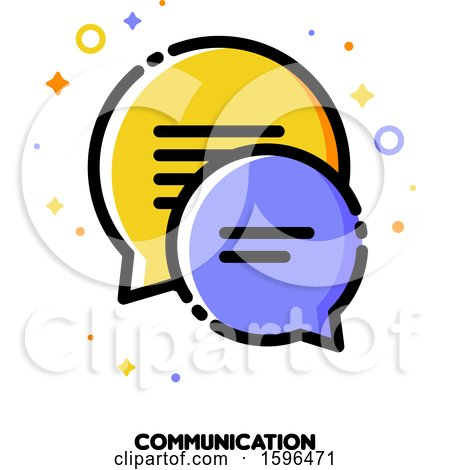 Clipart of a Communication Icon - Royalty Free Vector Illustration by elena
