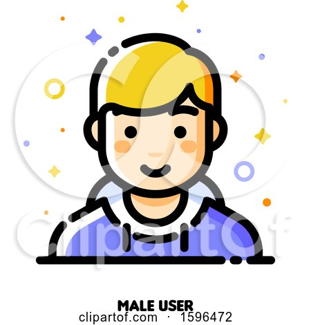 Clipart of a Male User Icon - Royalty Free Vector Illustration by elena