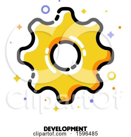Clipart of a Cog Wheel Development Icon - Royalty Free Vector Illustration by elena
