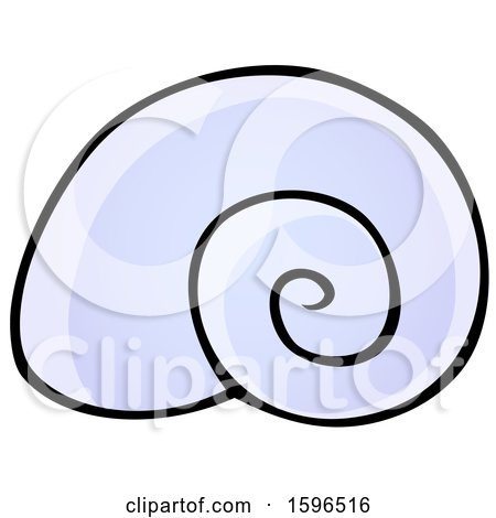 Clipart of a Sea Snail Shell - Royalty Free Vector Illustration by visekart