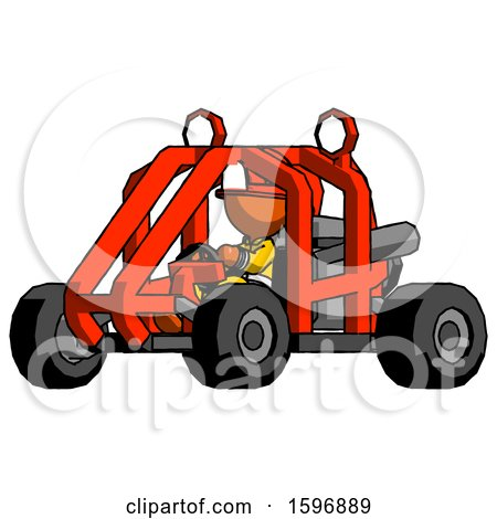 Orange Firefighter Fireman Man Riding Sports Buggy Side Angle View by Leo Blanchette