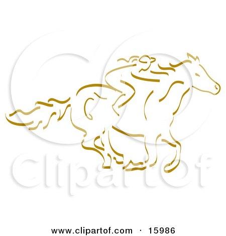 Girl Horseback Riding Posters, Art Prints