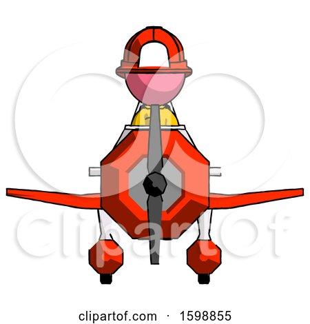 Pink Firefighter Fireman Man in Geebee Stunt Plane Front View by Leo Blanchette