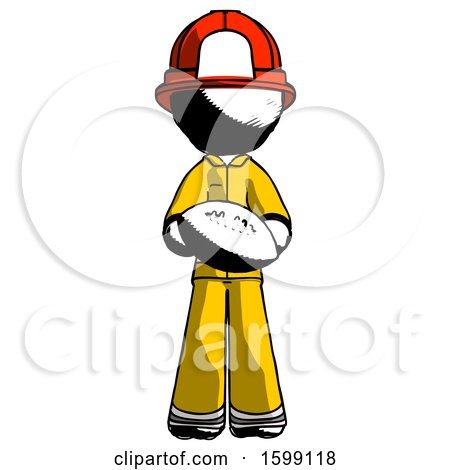 Ink Firefighter Fireman Man Giving Football to You by Leo Blanchette