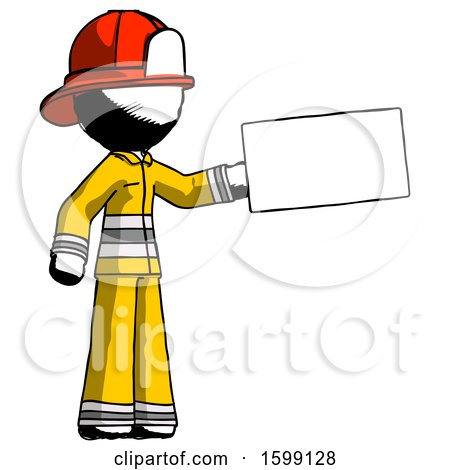 Ink Firefighter Fireman Man Holding Large Envelope by Leo Blanchette