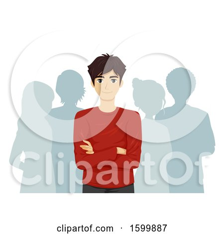 Clipart of a Teen Guy Leader - Royalty Free Vector Illustration by BNP Design Studio