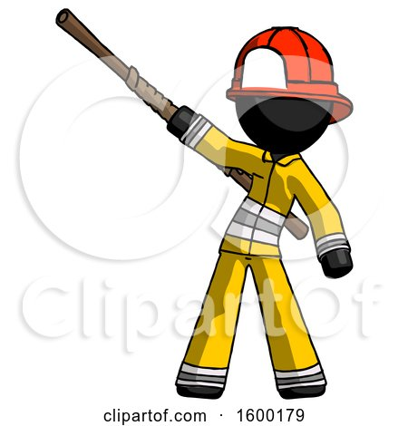 Black Firefighter Fireman Man Bo Staff Pointing up Pose by Leo Blanchette
