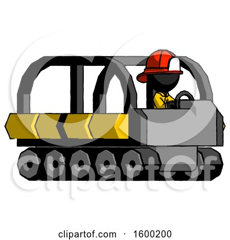 Black Firefighter Fireman Man Driving Amphibious Tracked Vehicle Side Angle View by Leo Blanchette