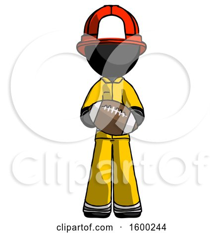 Black Firefighter Fireman Man Giving Football to You by Leo Blanchette