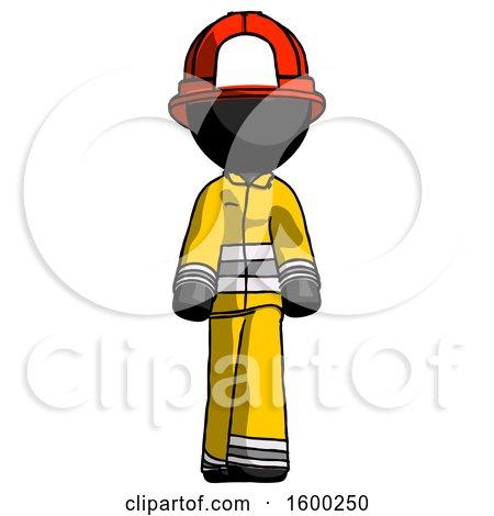 Black Firefighter Fireman Man Walking Front View by Leo Blanchette