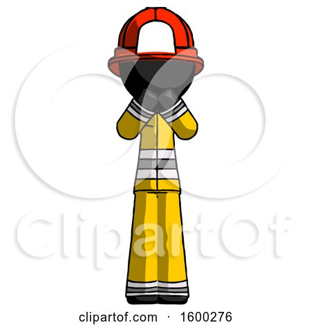 Black Firefighter Fireman Man Laugh, Giggle, or Gasp Pose by Leo Blanchette