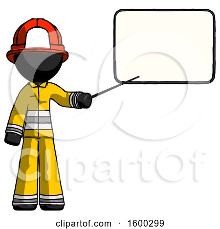 Black Firefighter Fireman Man Giving Presentation in Front of Dry-erase Board by Leo Blanchette