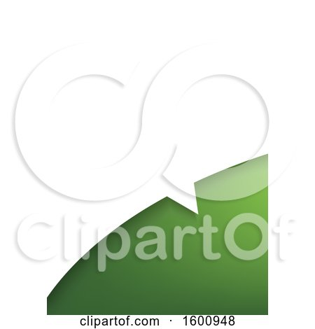 Clipart of a Green and White Speech Balloon Background - Royalty Free Vector Illustration by dero