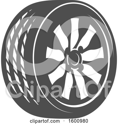 Clipart of a Tire - Royalty Free Vector Illustration by Vector Tradition SM
