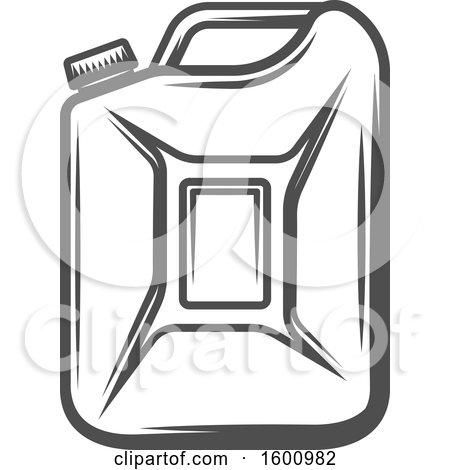 Clipart of a Gas Can - Royalty Free Vector Illustration by Vector Tradition SM