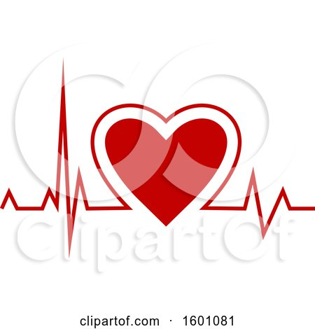Clipart of a Medical Cardiogram Heart Beat - Royalty Free Vector Illustration by Vector Tradition SM