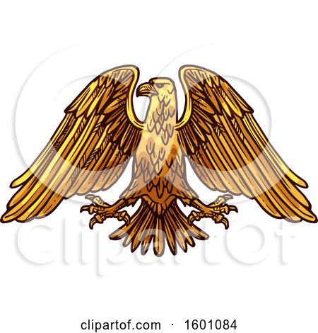 Clipart of a Heraldic Eagle - Royalty Free Vector Illustration by Vector Tradition SM