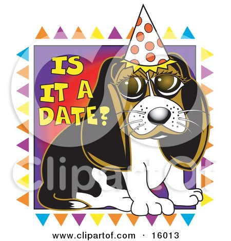 Cute Beagle Puppy Wearing A Party Hat Posters, Art Prints