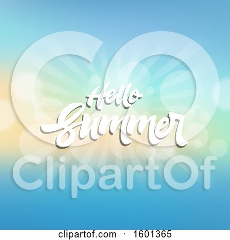 Clipart of a Hello Summer Design with Flares - Royalty Free Vector Illustration by KJ Pargeter