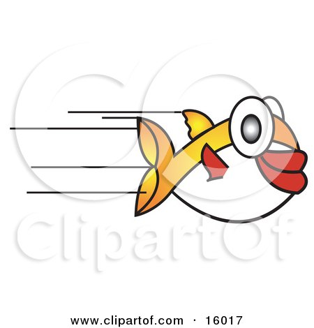 Fast Puffer Fish Speeding Past Clipart Illustration by Andy Nortnik