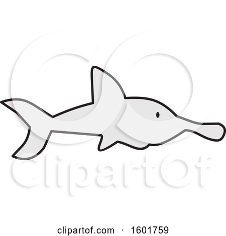 Clipart of a Shark - Royalty Free Vector Illustration by Johnny Sajem