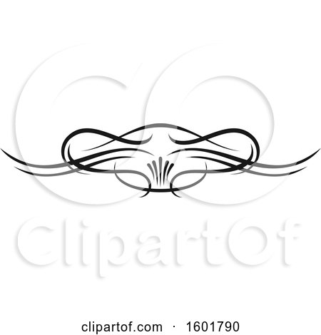 Clipart of a Black Flourish Design Element Border - Royalty Free Vector Illustration by Vector Tradition SM
