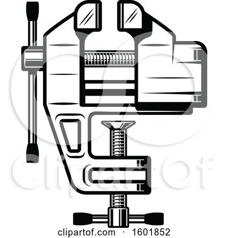 Clipart of Black and White Tools - Royalty Free Vector ...