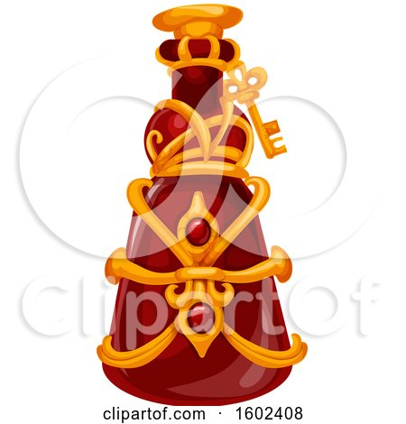Clipart of a Magical Wizard or Witch Potion Bottle - Royalty Free Vector Illustration by Vector Tradition SM