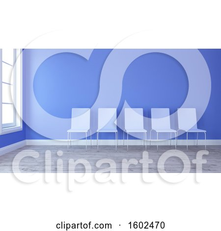 Clipart of a 3d Waiting Room Interior - Royalty Free Illustration by KJ Pargeter