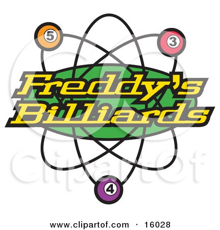 Billiards Pool Sign Clipart Illustration by Andy Nortnik