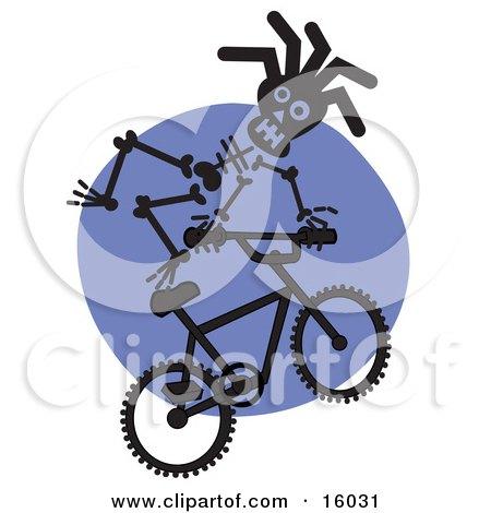 Skeleton Riding A Bmx Bike Clipart Illustration by Andy Nortnik