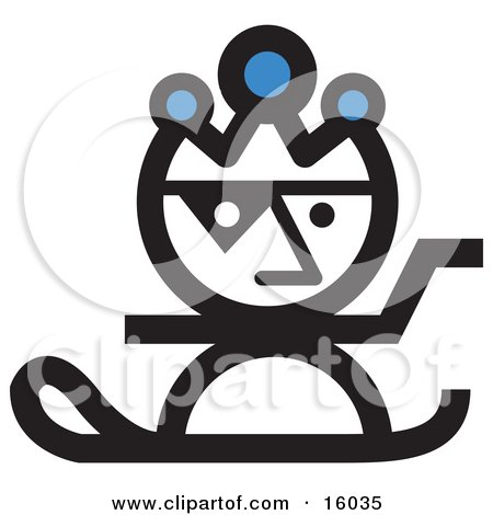 Jester Snowboarding Clipart Illustration by Andy Nortnik