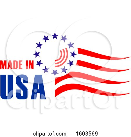 Clipart of a Made in Usa Design - Royalty Free Vector Illustration by Vector Tradition SM