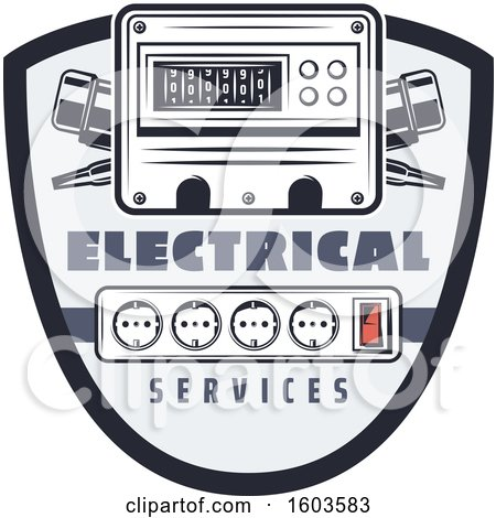 Shield with an Electrical Ammeter and Sockets Posters, Art Prints