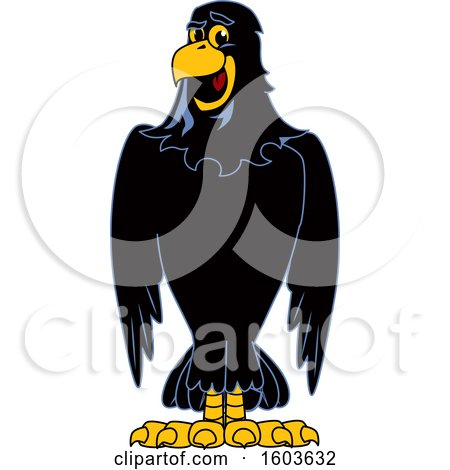 Clipart of a Raven School Mascot Character - Royalty Free Vector Illustration by Toons4Biz