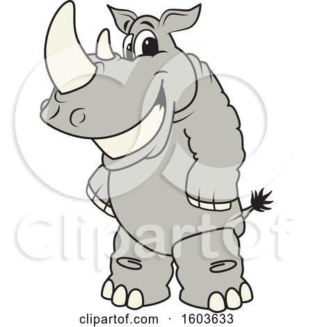 Rhinoceros School Mascot Character Posters, Art Prints