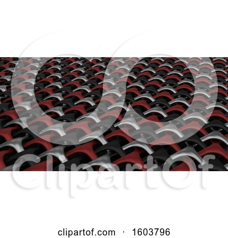 Clipart of a 3D Geometric Weave Abstract - Royalty Free Illustration by KJ Pargeter