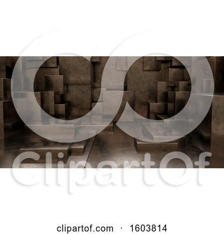Clipart of a 3D Geometric Abstract Cuboid Background - Royalty Free Illustration by KJ Pargeter