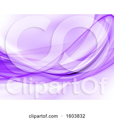 Clipart of a Purple Wave Background - Royalty Free Illustration by KJ Pargeter