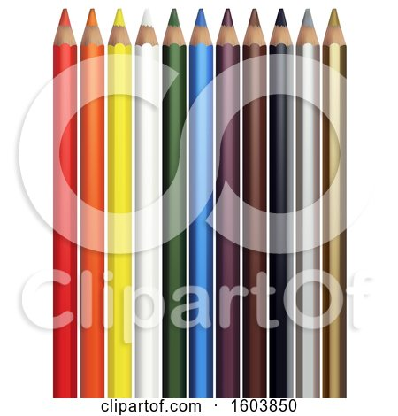 Clipart of 3d Colored Pencils - Royalty Free Vector Illustration by dero