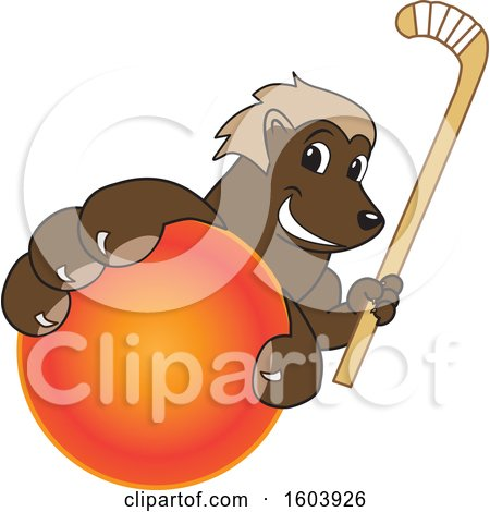 Clipart of a Wolverine School Mascot Character - Royalty Free Vector Illustration by Toons4Biz
