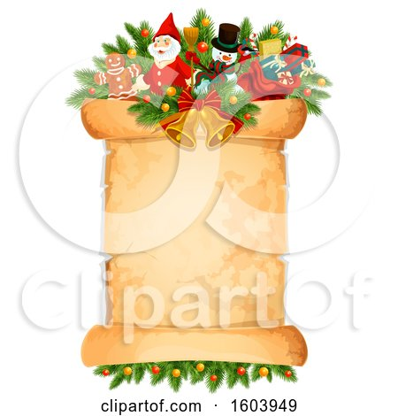 Clipart of a Christmas Scroll - Royalty Free Vector Illustration by Vector Tradition SM
