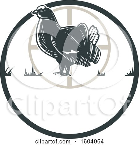 Clipart of a Grouse Hunting Design - Royalty Free Vector Illustration by Vector Tradition SM