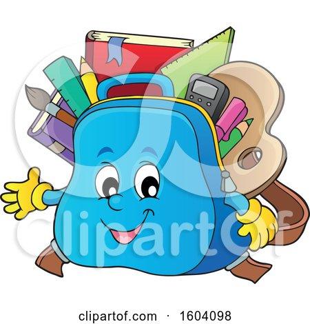 School Bag Mascot Posters, Art Prints